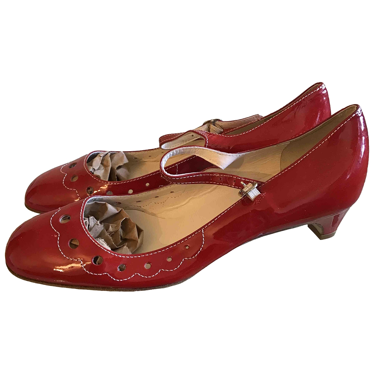 Marc Jacobs \N Red Patent leather Heels for Women 39 EU
