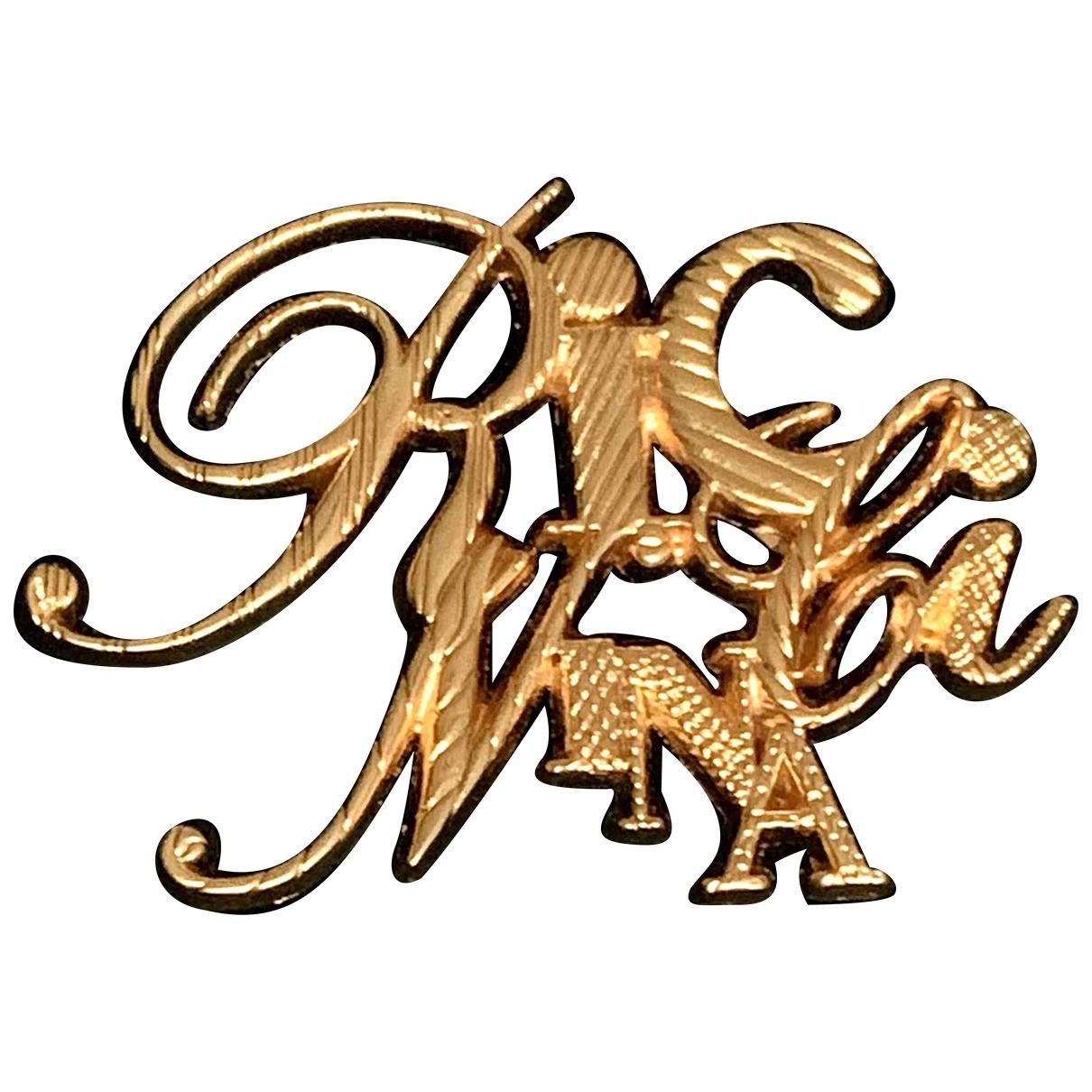 Nina Ricci - Broche   pour femme en acier - dore