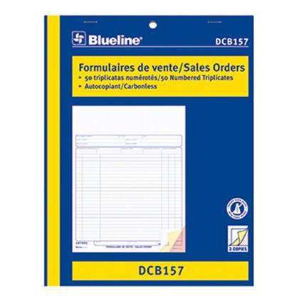 Blueline@ Sales Orders Carbonless Copy - 8-1/2 x 11� bilingual.,triplicate