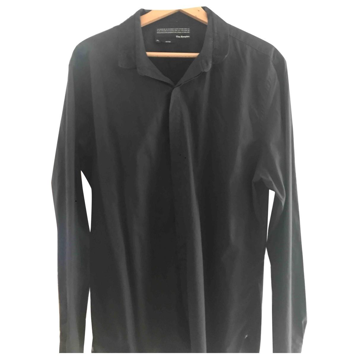 The Kooples - Chemises   pour homme en coton - noir