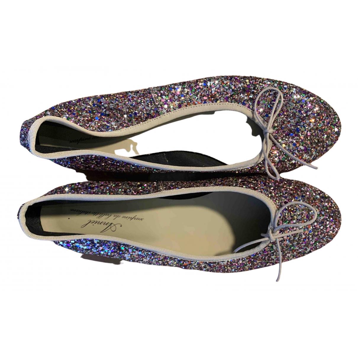 Anniel \N Ballerinas in  Bunt Mit Pailletten