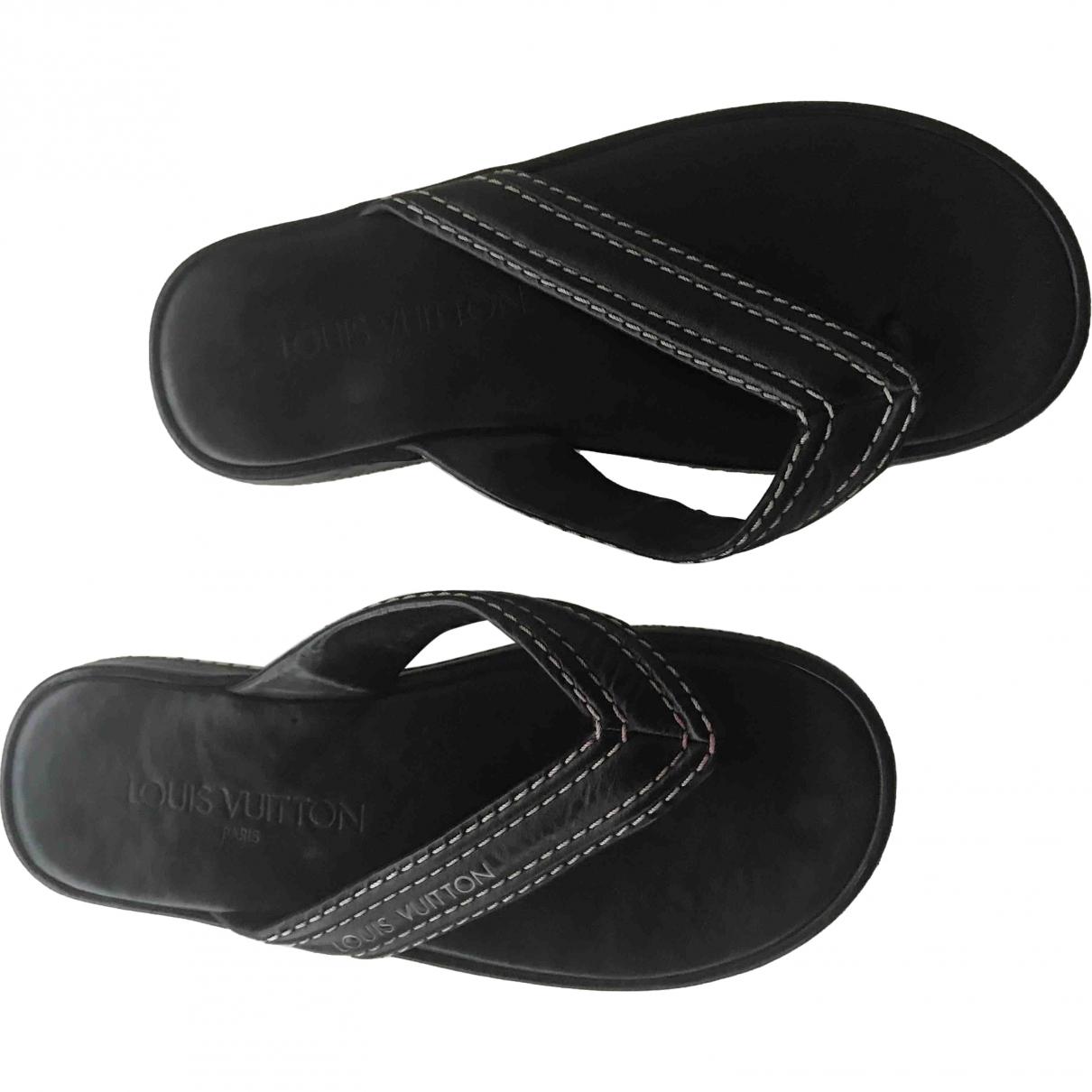 Louis Vuitton \N Black Leather Sandals for Women 36 EU
