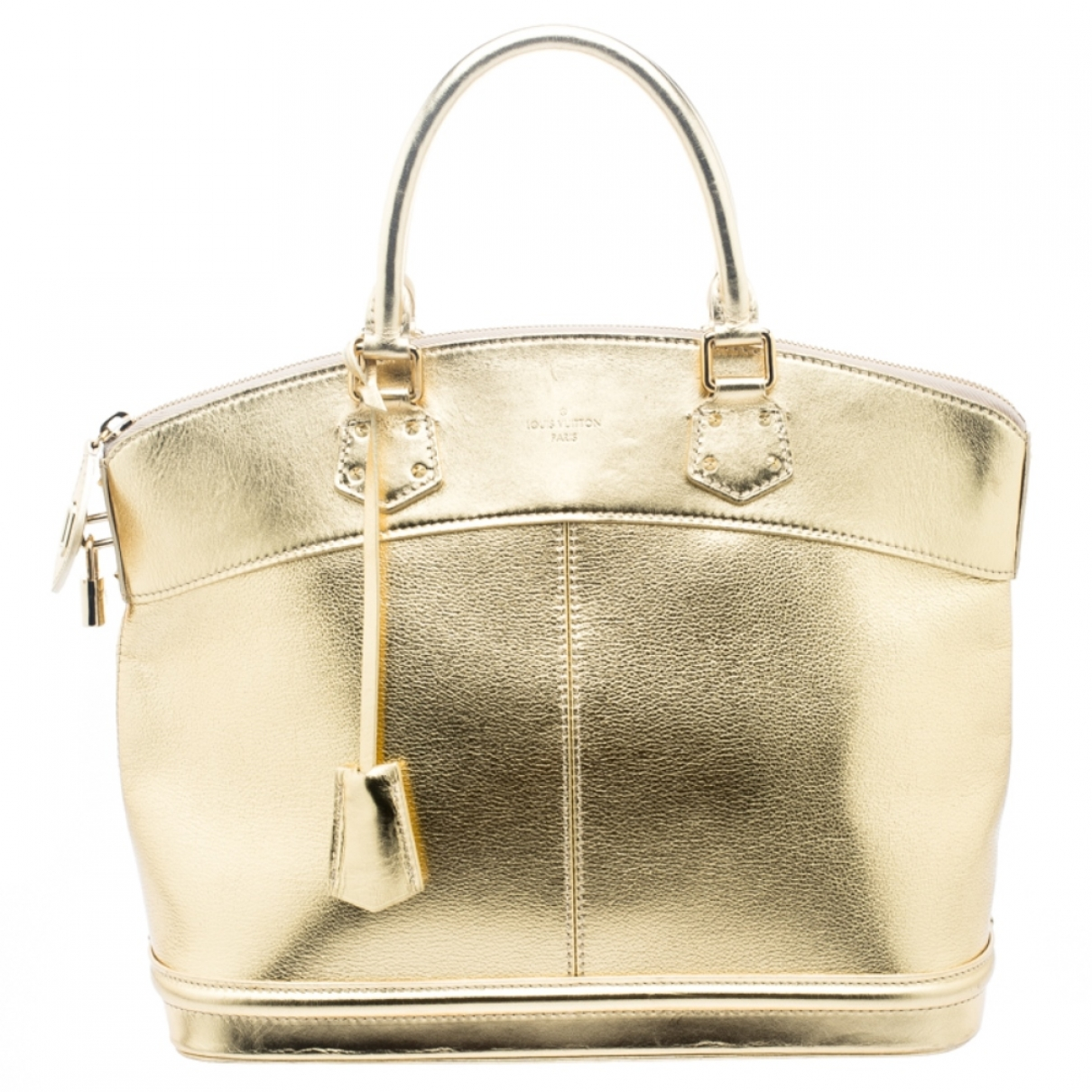 Louis Vuitton Lockit Handtasche in  Gold Leder