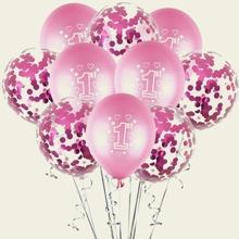 10 Stuecke 1st Geburtstag Dekorballon Set