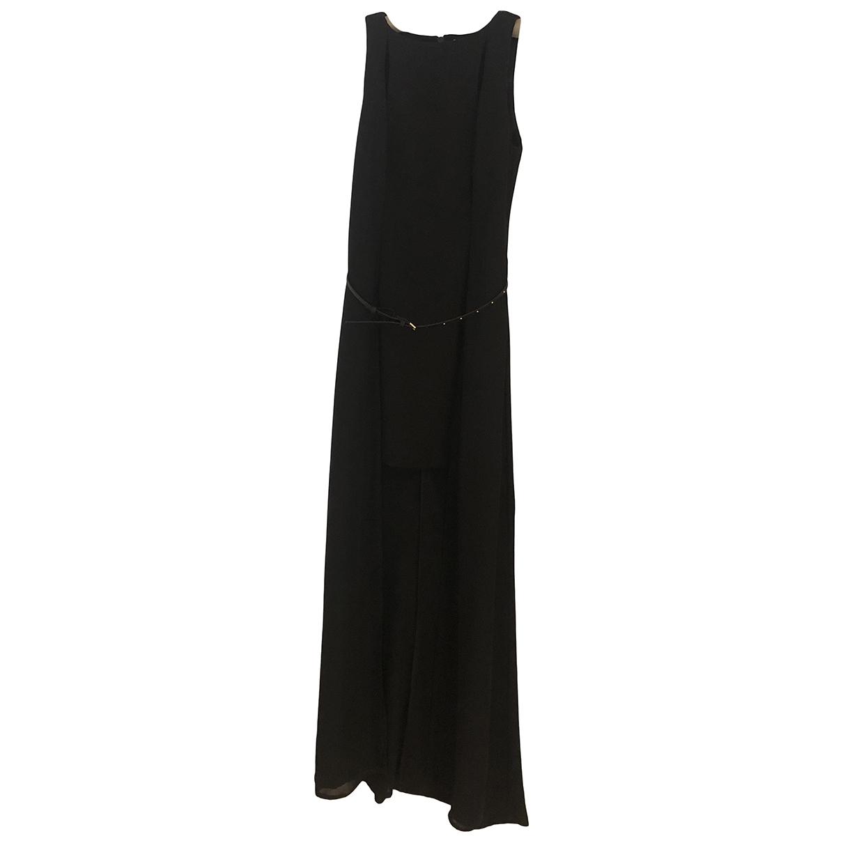 Halston Heritage \N Kleid in  Schwarz Baumwolle - Elasthan