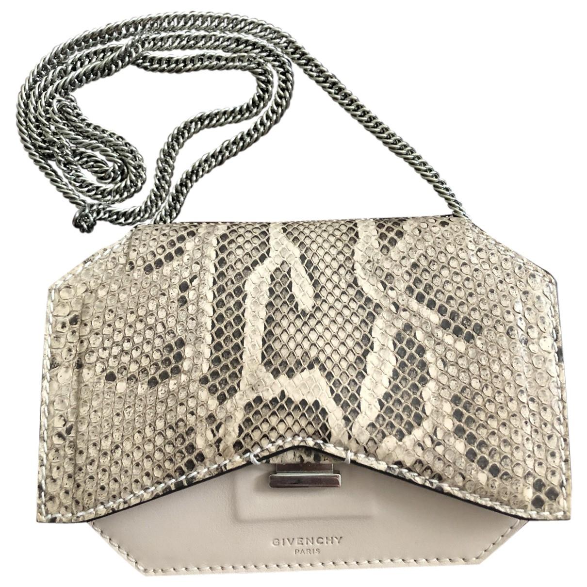 Givenchy Bow Cut Handtasche in  Beige Python