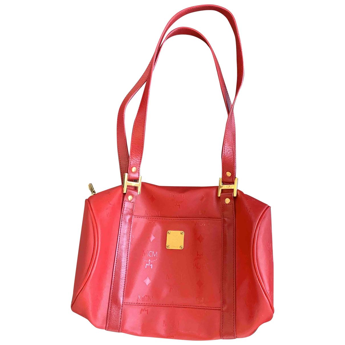 Mcm \N Handtasche in  Rot Leder