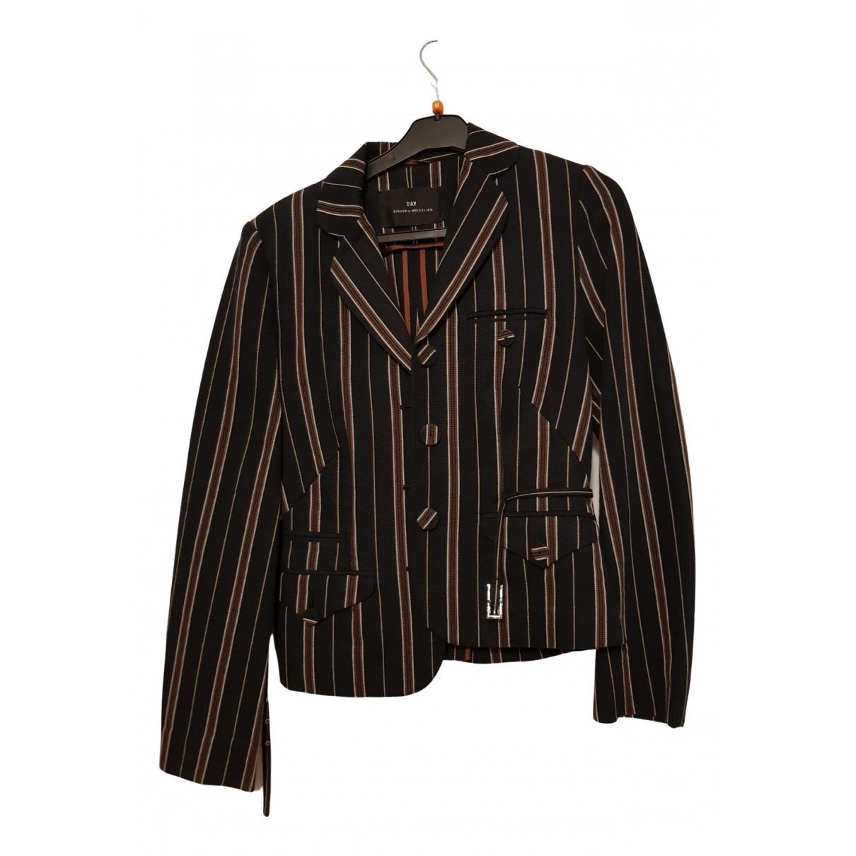 Non Signé / Unsigned N Multicolour Cotton jacket for Women 36 FR