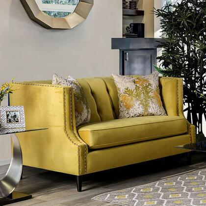 Tegan SM2216-LV Loveseat with Nail Head Trim  Button Tufting and Microfiber Upholstery in Royal