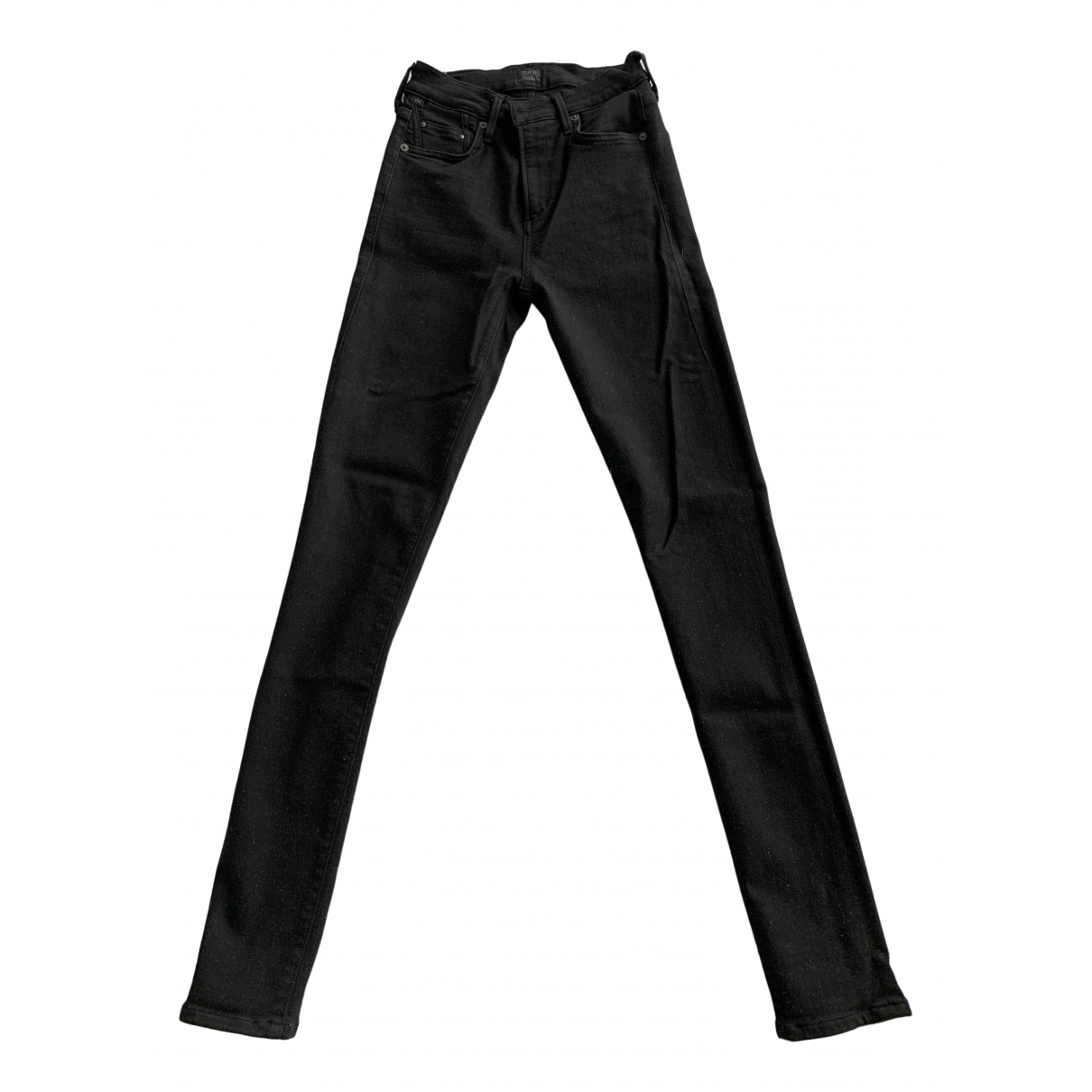 Citizens Of Humanity \N Black Cotton - elasthane Jeans for Women 25 US