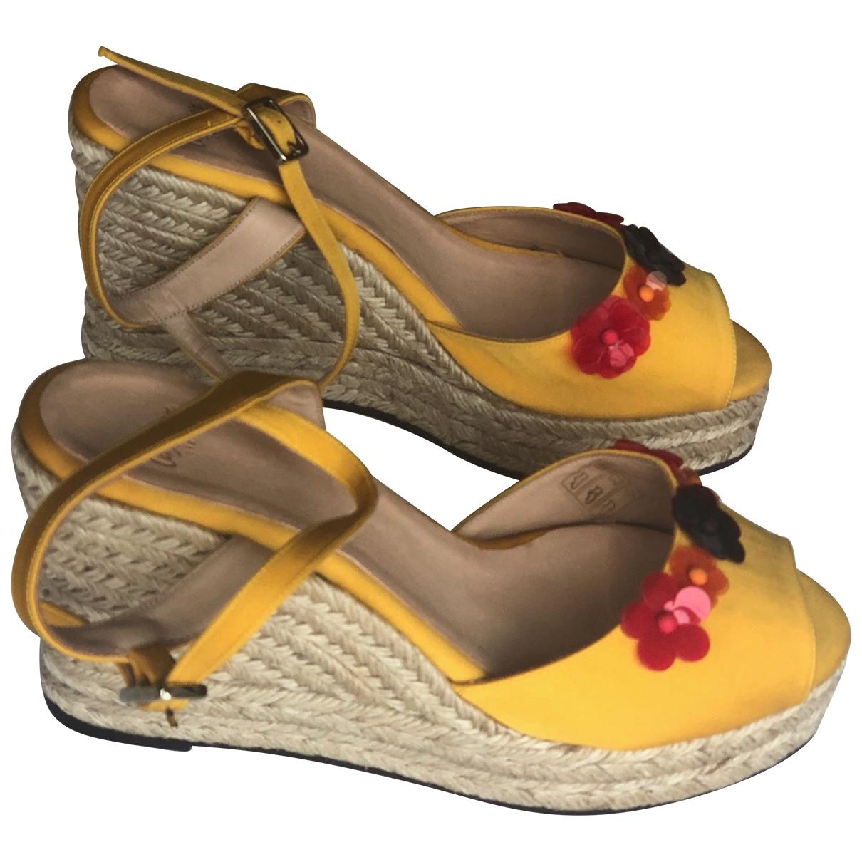 Castaner - Espadrilles   pour femme en toile - jaune
