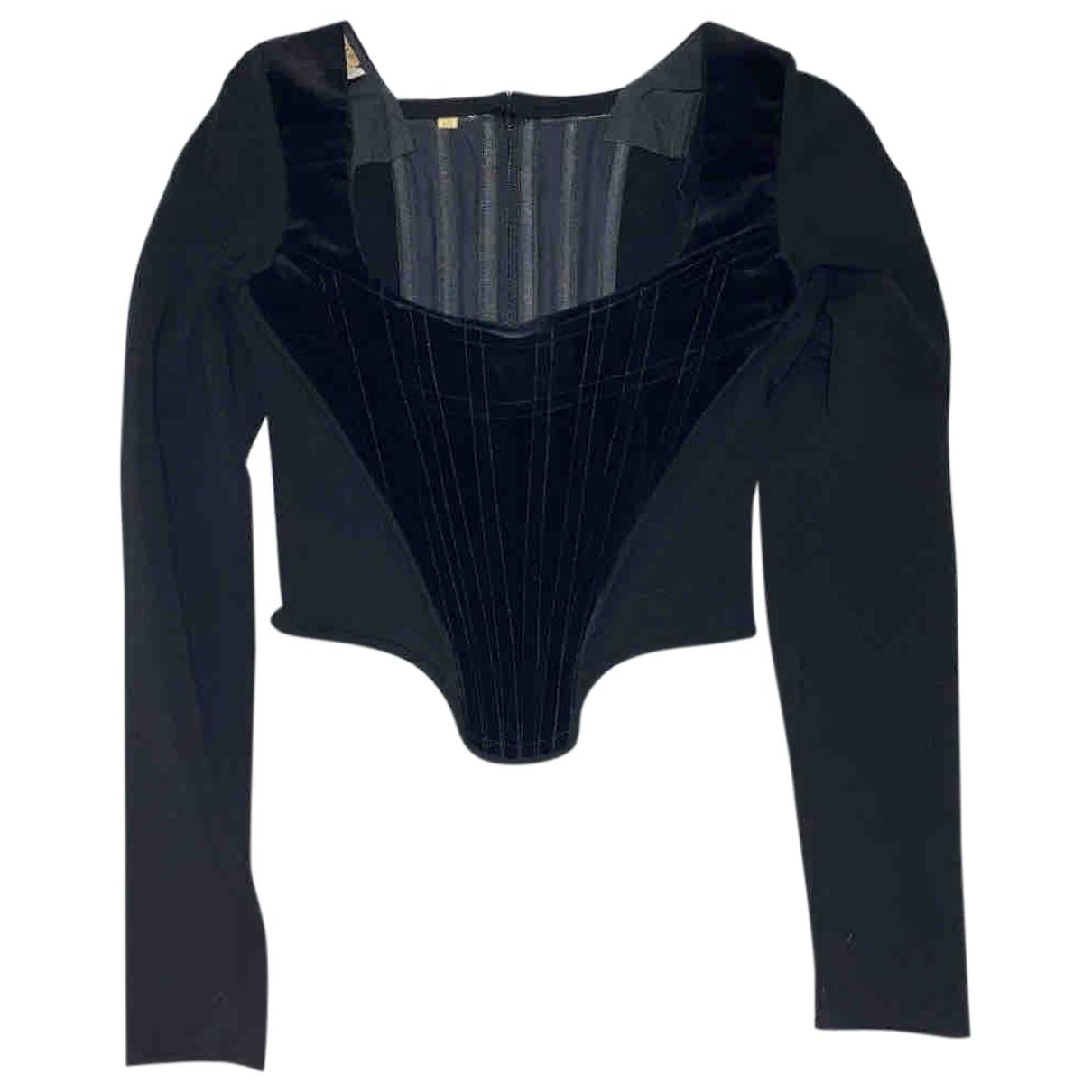 Vivienne Westwood - Top   pour femme en velours - noir