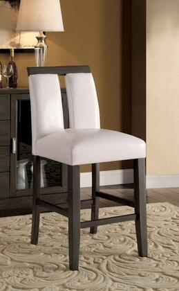 Luminar II Collection CM3559GY-PC-2PK Set of 2 Counter Height Chair with Padded Leatherette Upholstery  and Keyhole Back Design in Gray and