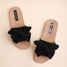 Knot Decor Wide Fit Slide Sandals