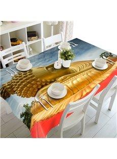 Golden Buddha Prints Design Dining Room Decoration 3D Tablecloth