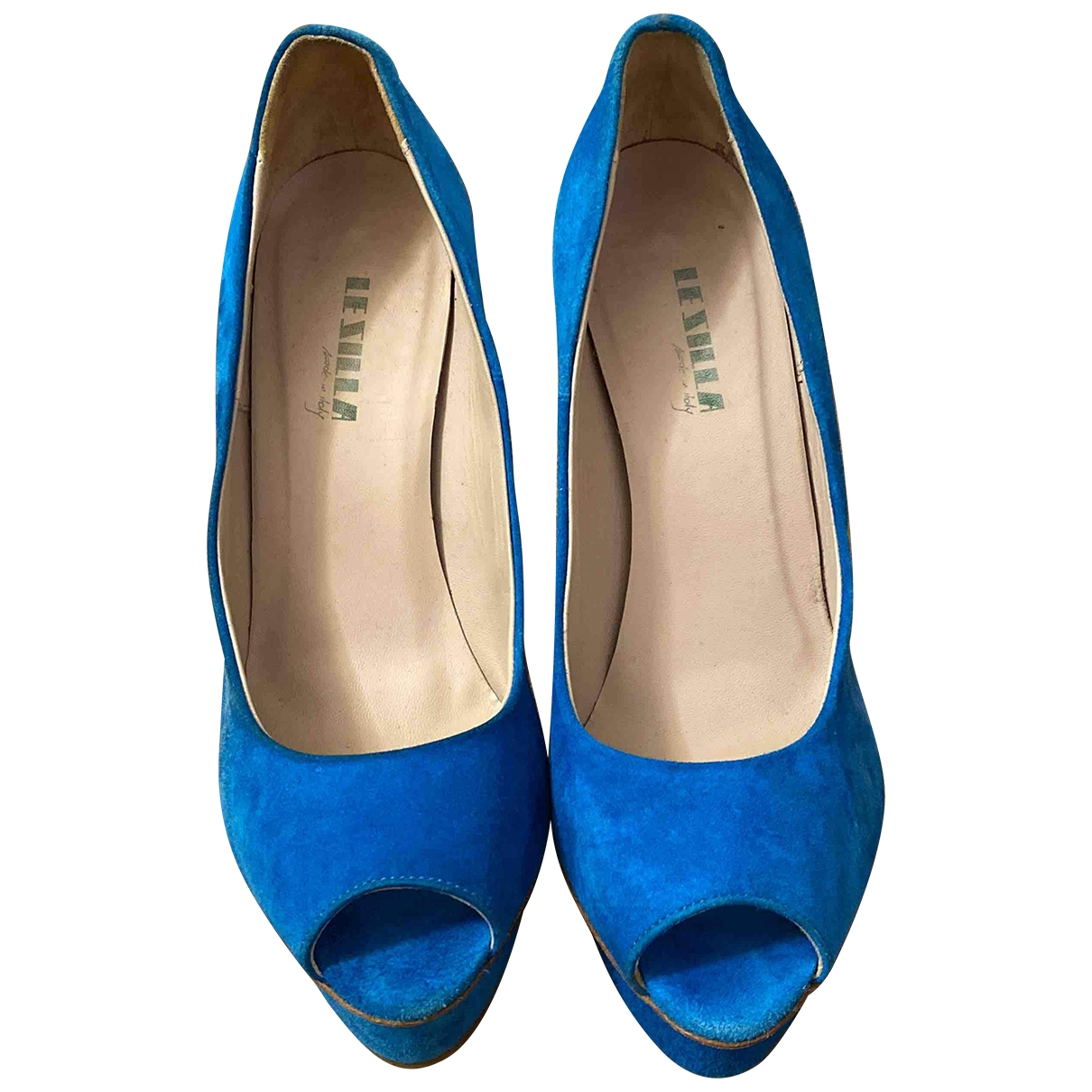 Le Silla \N Turquoise Suede Heels for Women 37.5 IT