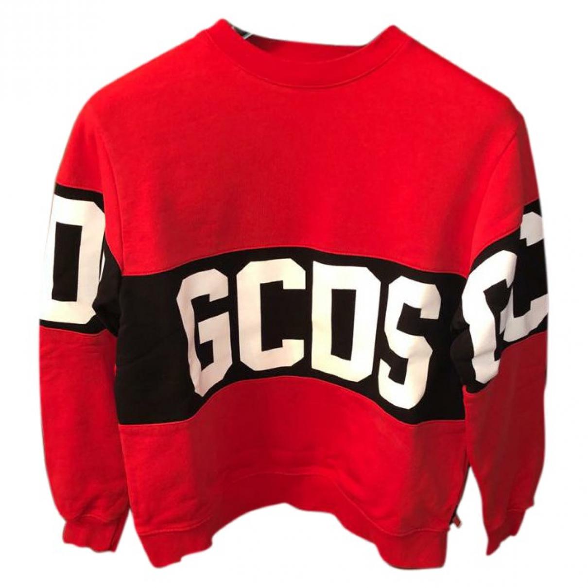 Gcds \N Pullover.Westen.Sweatshirts  in  Rot Baumwolle