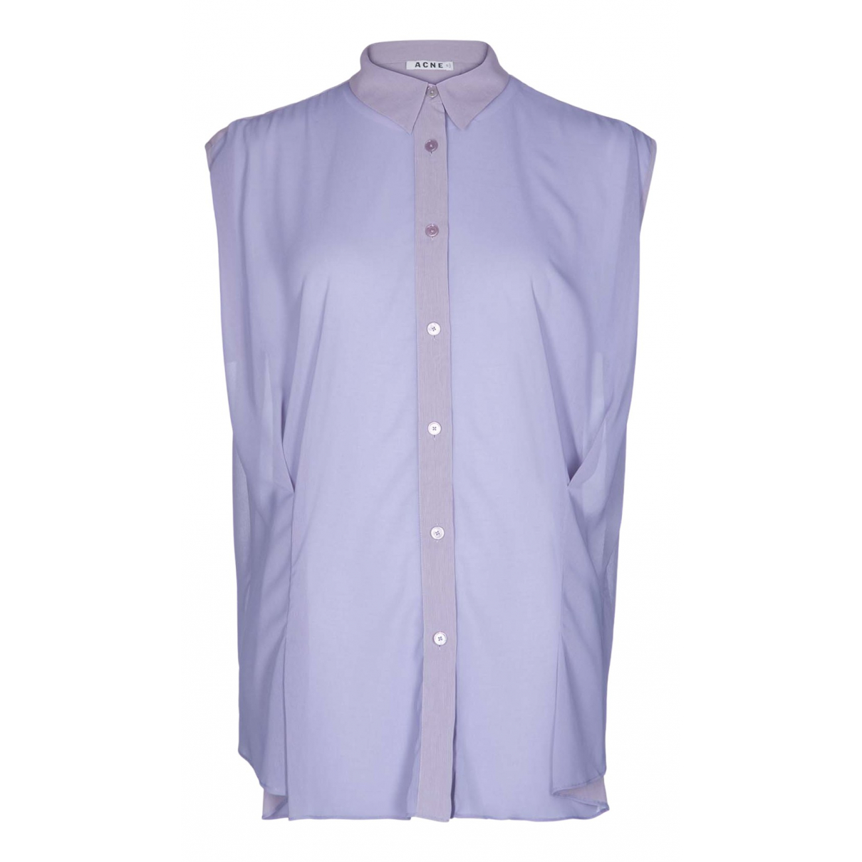 Acne Studios N Purple Silk  top for Women 10 UK