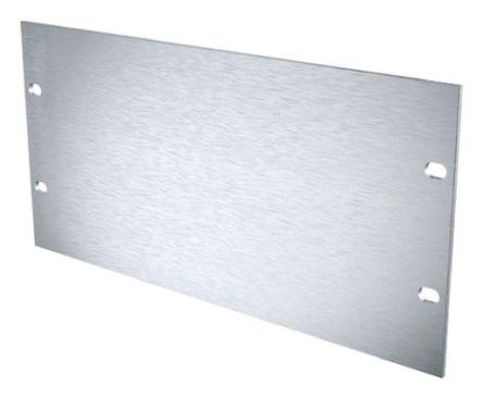 METCASE 19-inch Front Panel, 3U, 52.5HP, Grey, Aluminium