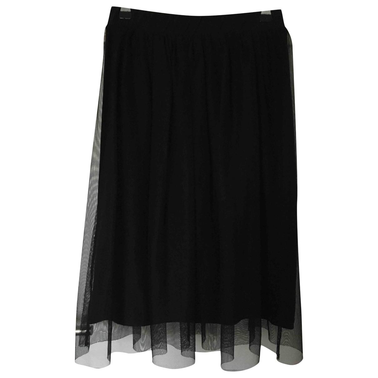 tophop \N Black Cotton - elasthane skirt for Women 8 UK