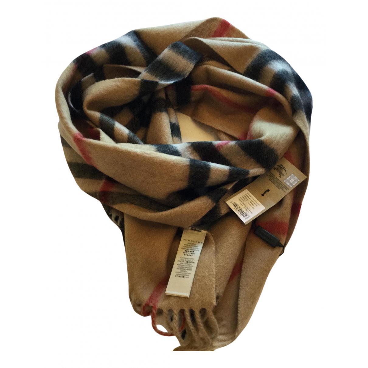 Burberry \N Camel Cashmere scarf & pocket squares for Men \N