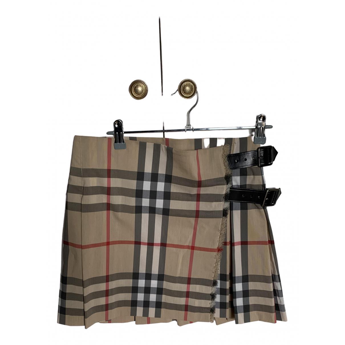 Burberry \N Multicolour Cotton - elasthane skirt for Women 36 FR