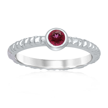 Marvel Universe Fine Jewelry By Marvel Womens Genuine Red Topaz Sterling Silver Round Marvel Cocktail Ring, 7 , No Color Family