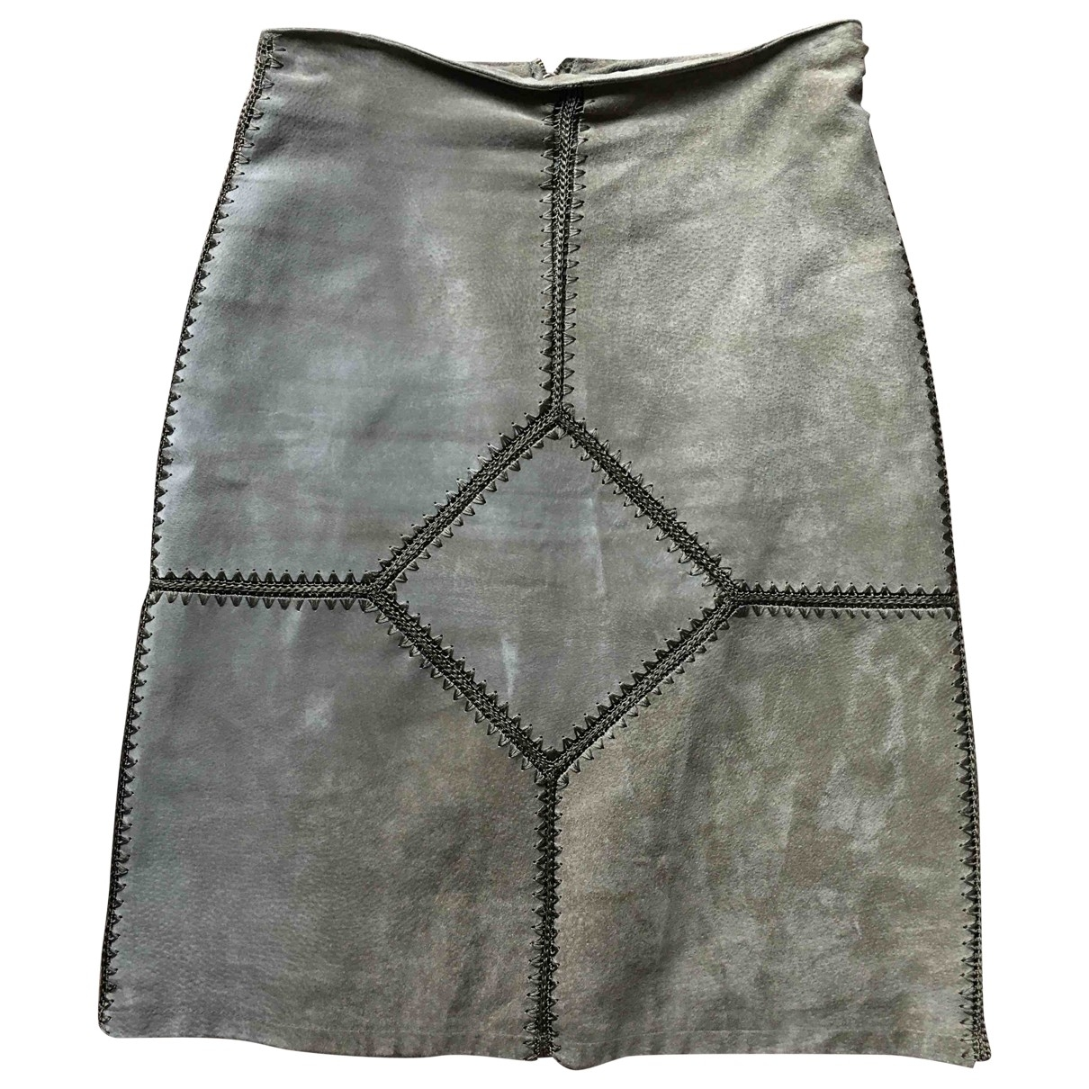 Non Signé / Unsigned \N Khaki Suede skirt for Women M International