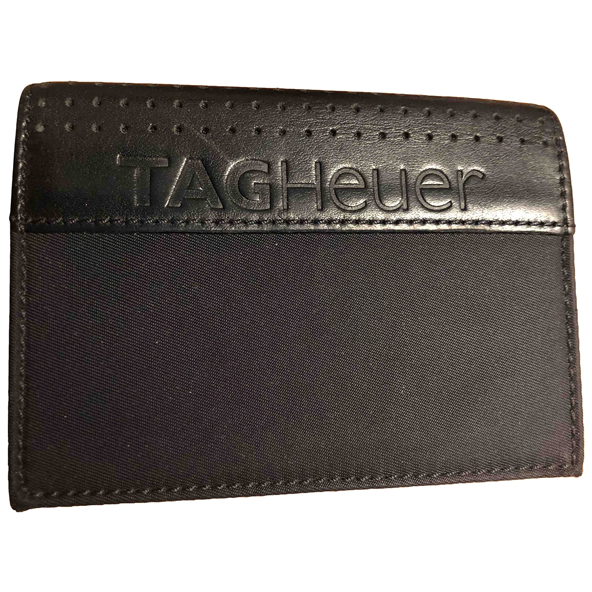 Tag Heuer \N Black Leather Small bag, wallet & cases for Men \N