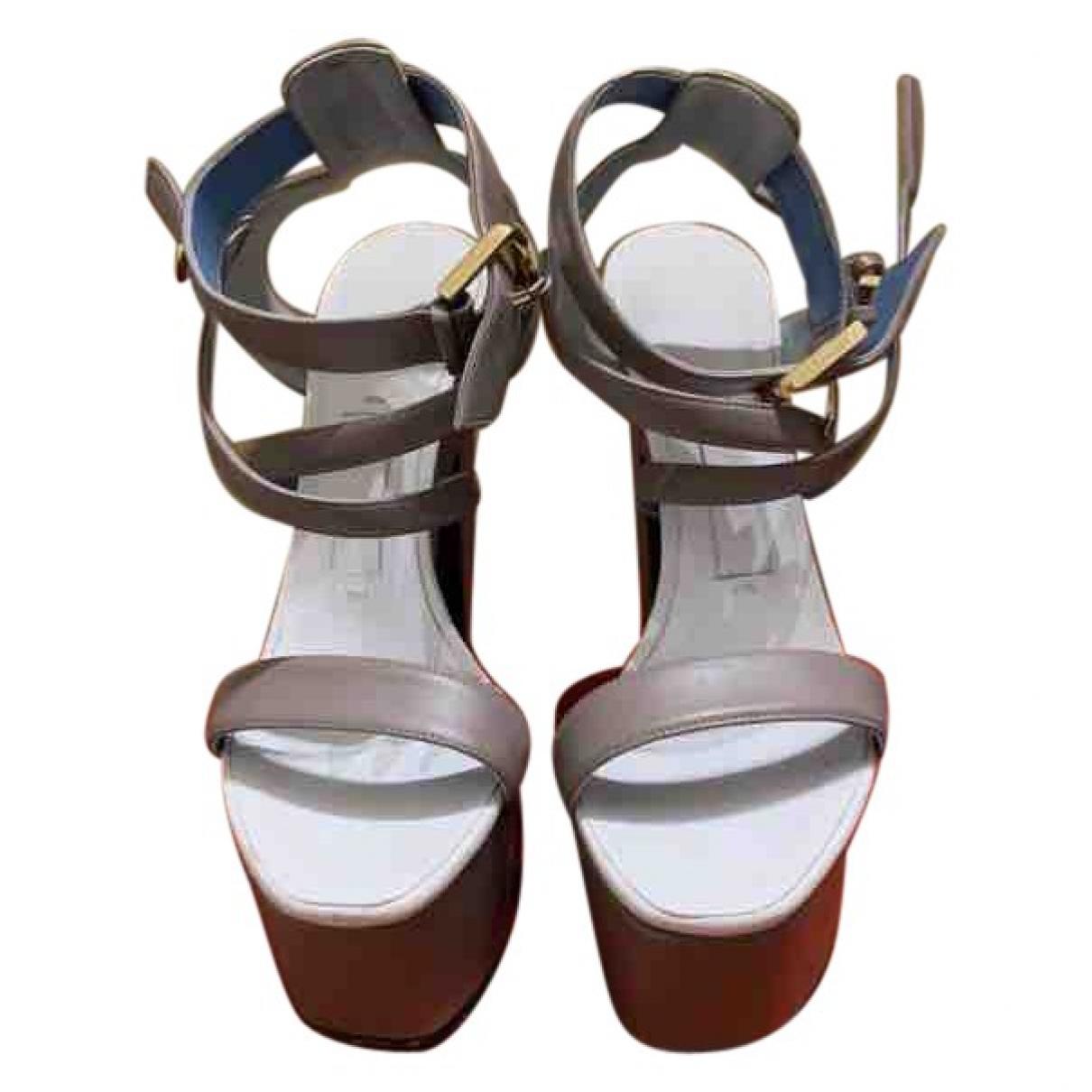 Vionnet - Sandales   pour femme en cuir - blanc