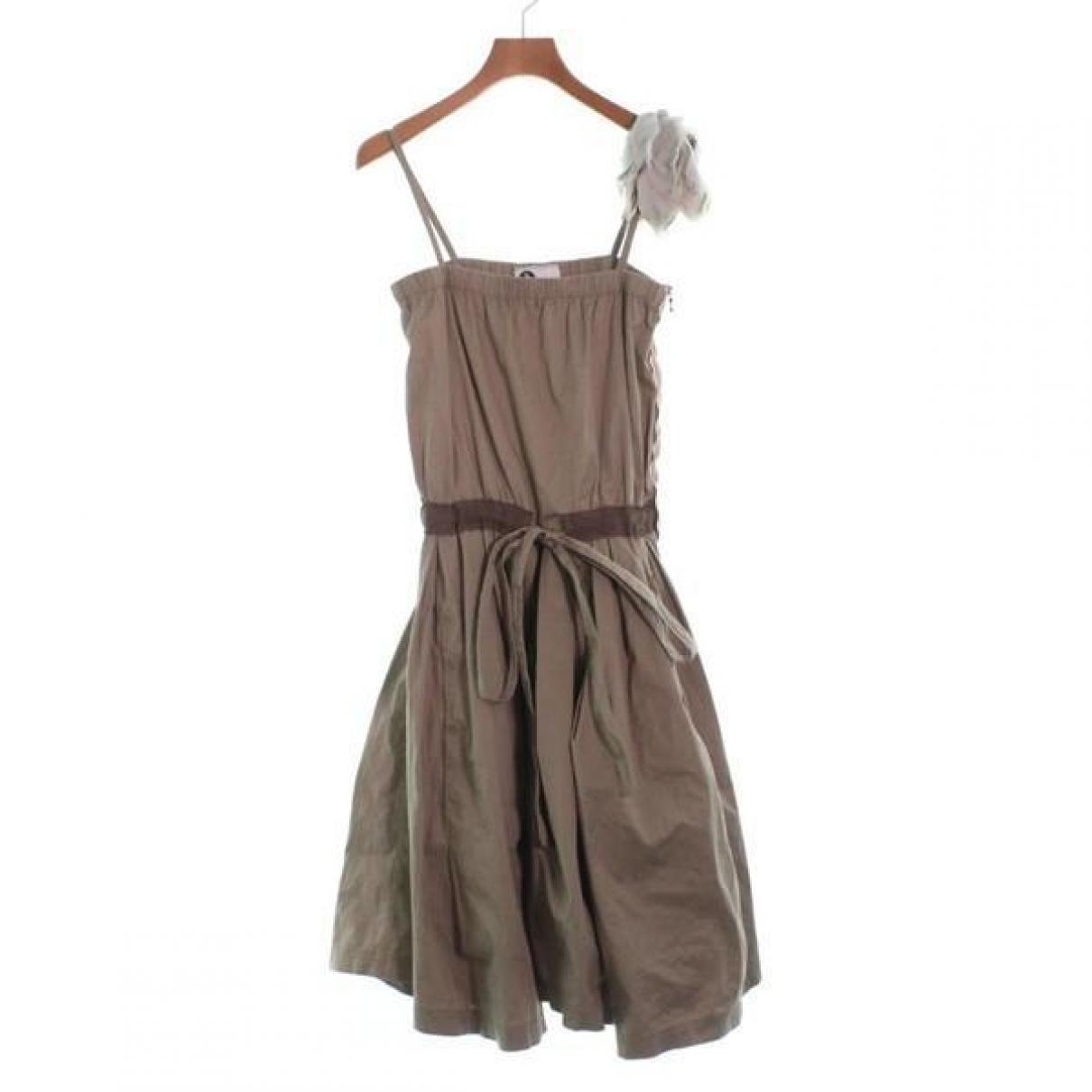 Lanvin - Robe   pour femme en coton - vert