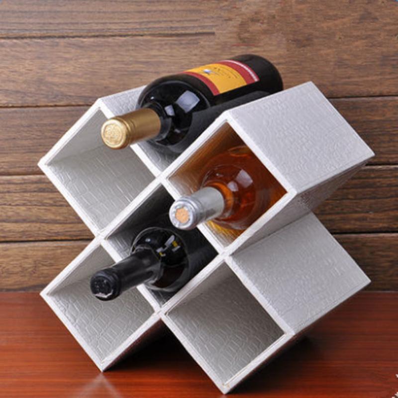 Modern Creative Five Lattices European Style Decorative Wine Rack