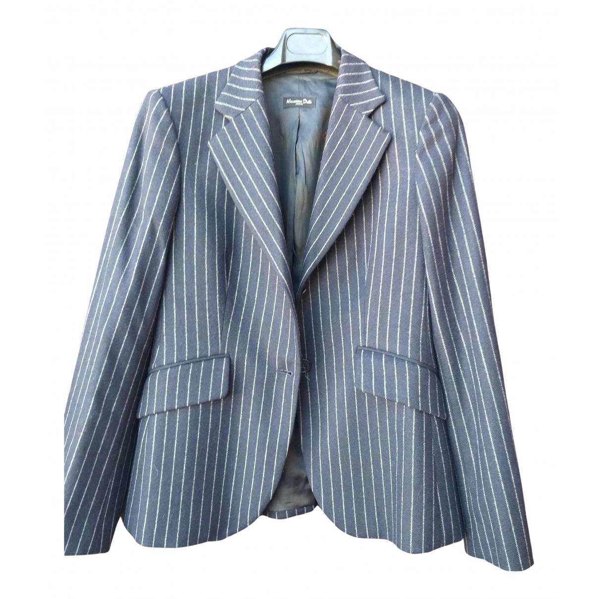 Massimo Dutti N Blue Wool jacket for Women 42 FR