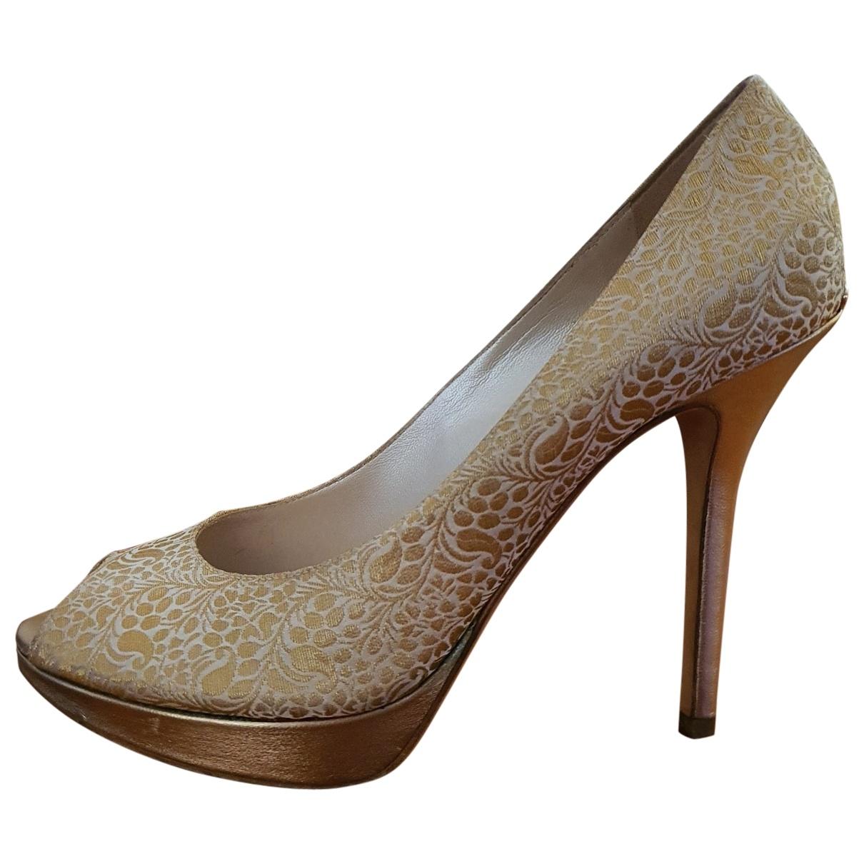Dior - Escarpins   pour femme en cuir - dore