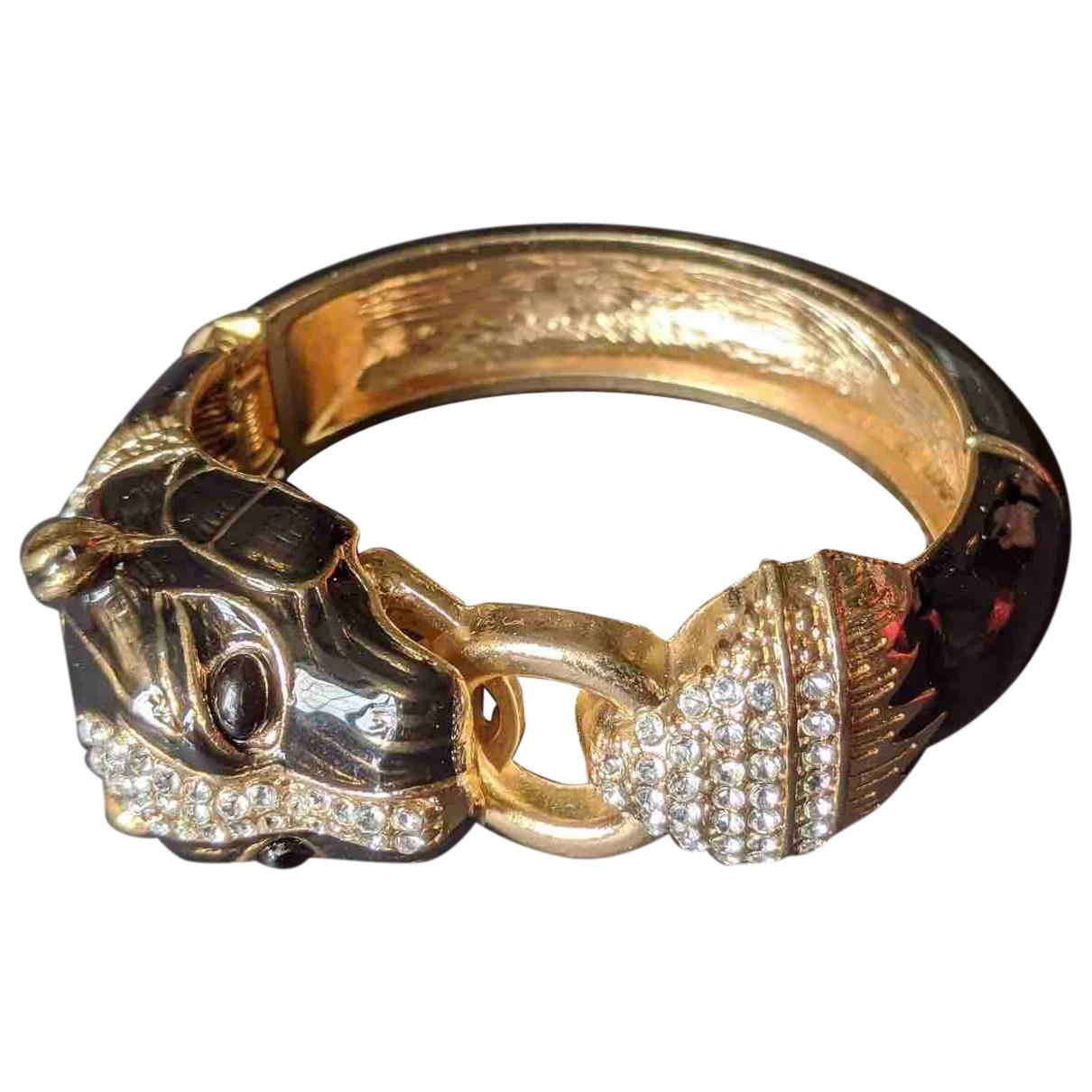 Non Signé / Unsigned Motifs Animaliers Gold Metal bracelet for Women N