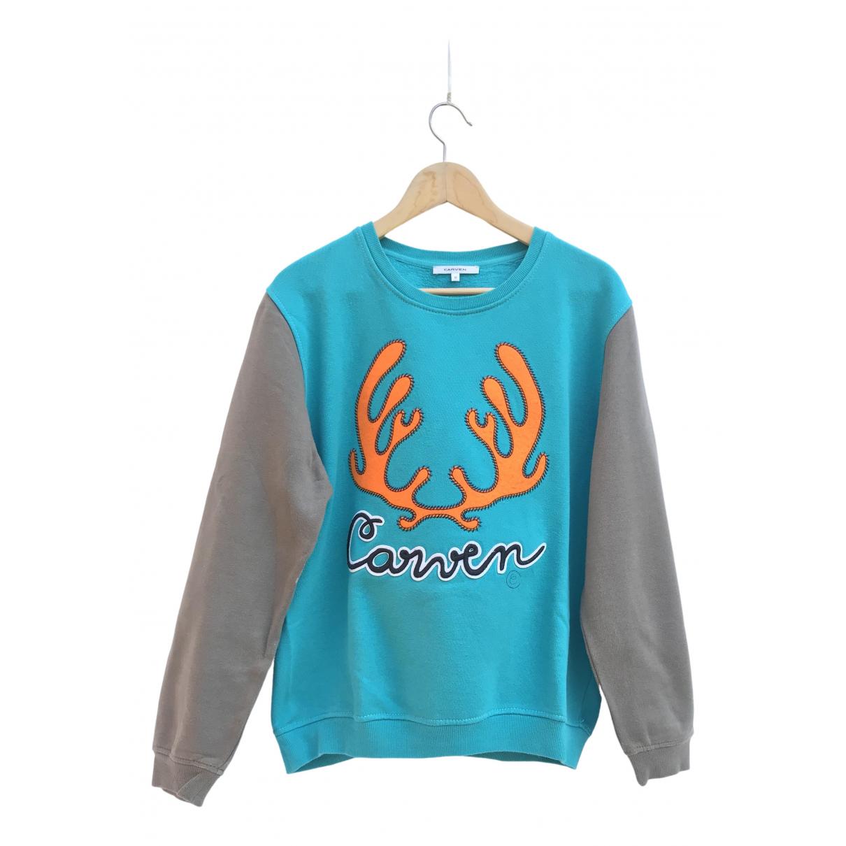 Carven \N Pullover.Westen.Sweatshirts  in  Gruen Baumwolle