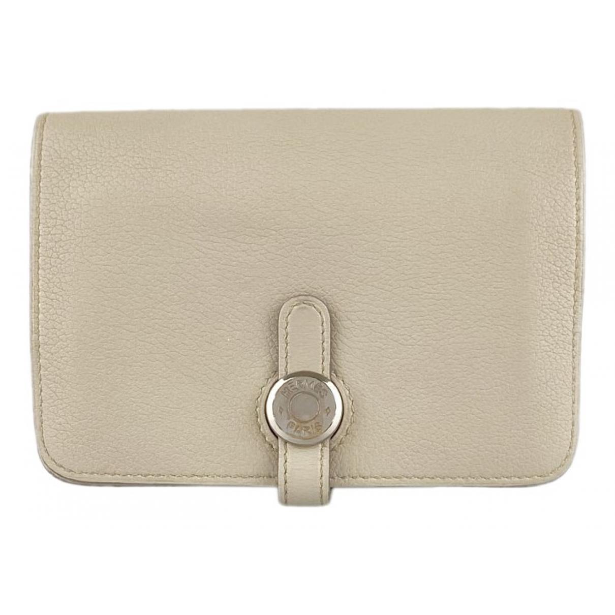 Hermès Dogon White Leather wallet for Women N