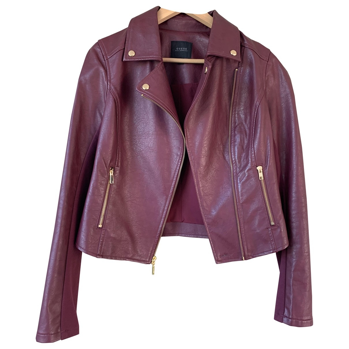 Guess \N Jacke in  Bordeauxrot Synthetik