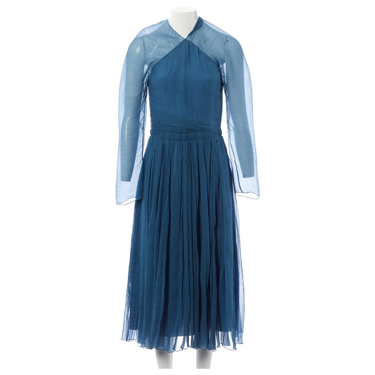 Nina Ricci \N Blue Silk dress for Women 36 FR