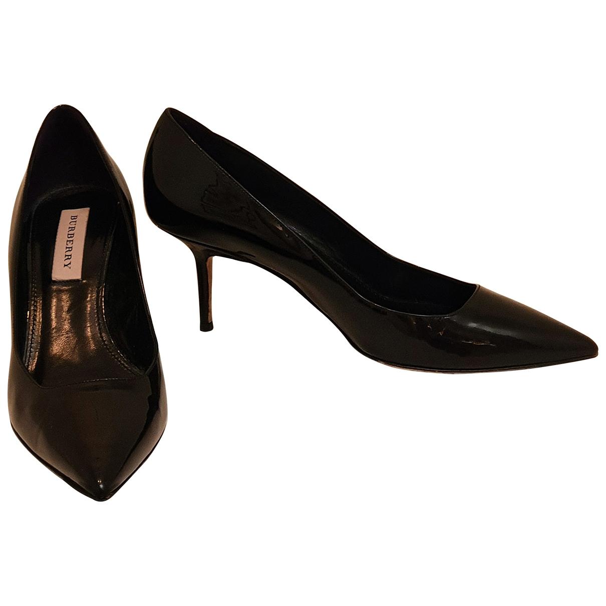 Burberry - Escarpins   pour femme en cuir verni - noir