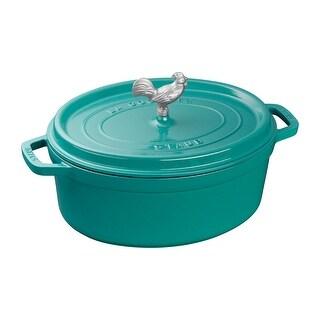 Staub Cast Iron 5.75-qt Coq au Vin Cocotte (Turquoise)
