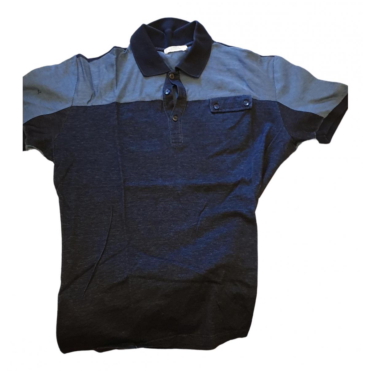 Versace - Polos   pour homme en coton - marine