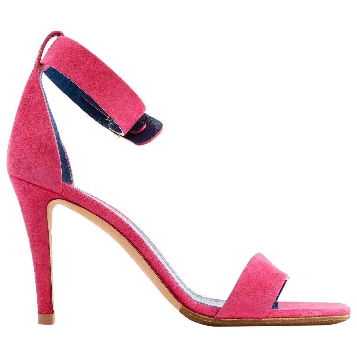 Celine - Sandales   pour femme en suede - rose