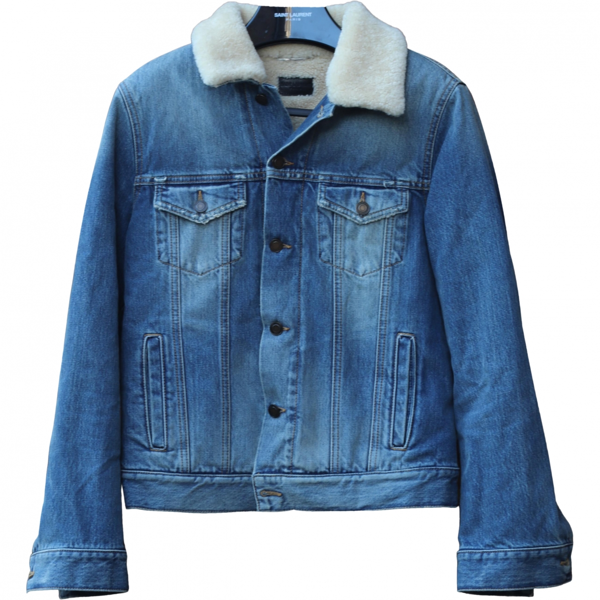 Saint Laurent \N Jacke in  Blau Denim - Jeans