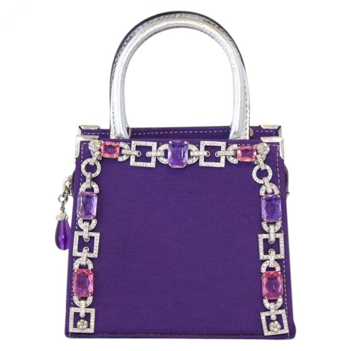 Carlo Zini - Pochette   pour femme en toile - violet
