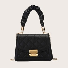 Quilted Flap Satchel Bag