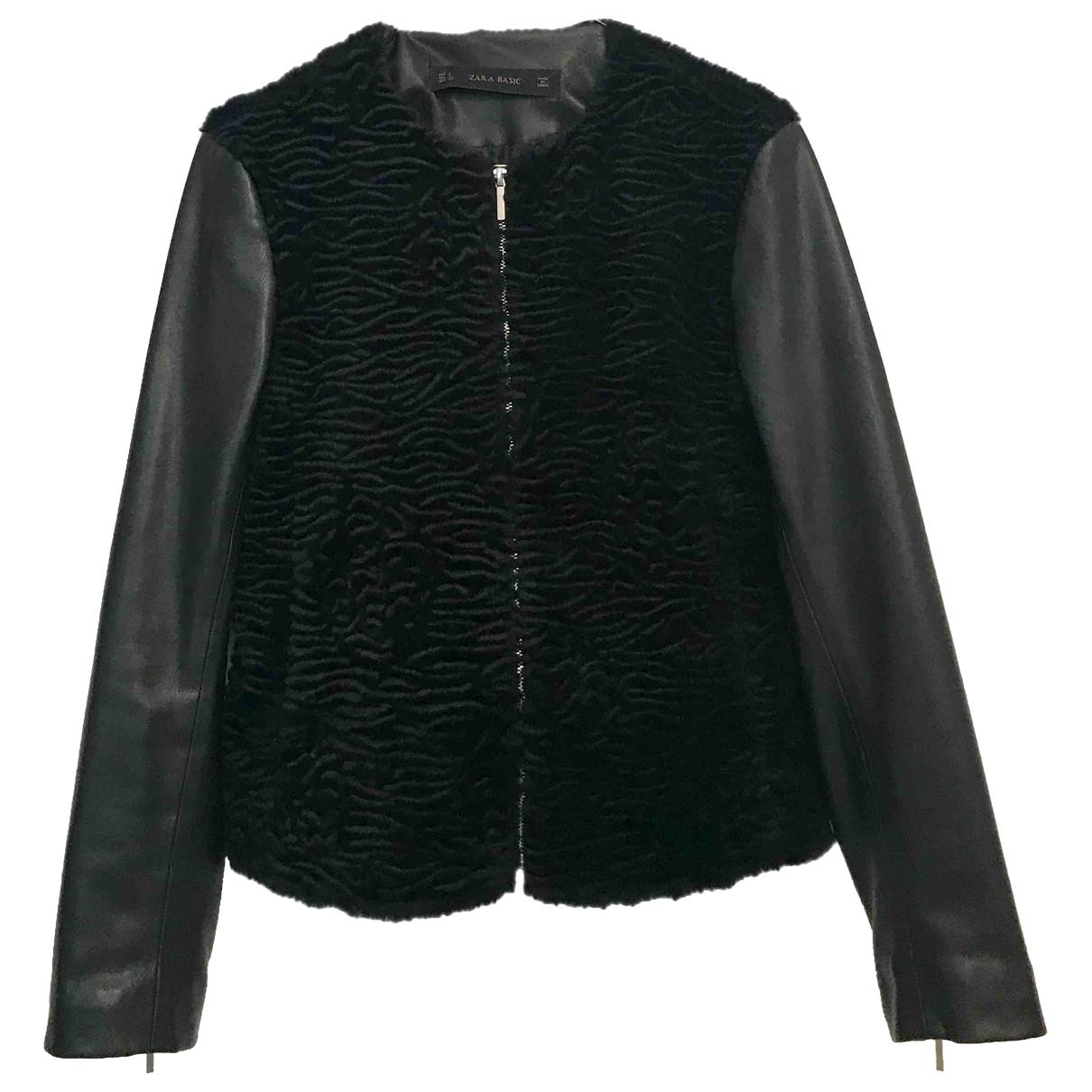 Zara \N Black Leather jacket for Women S International