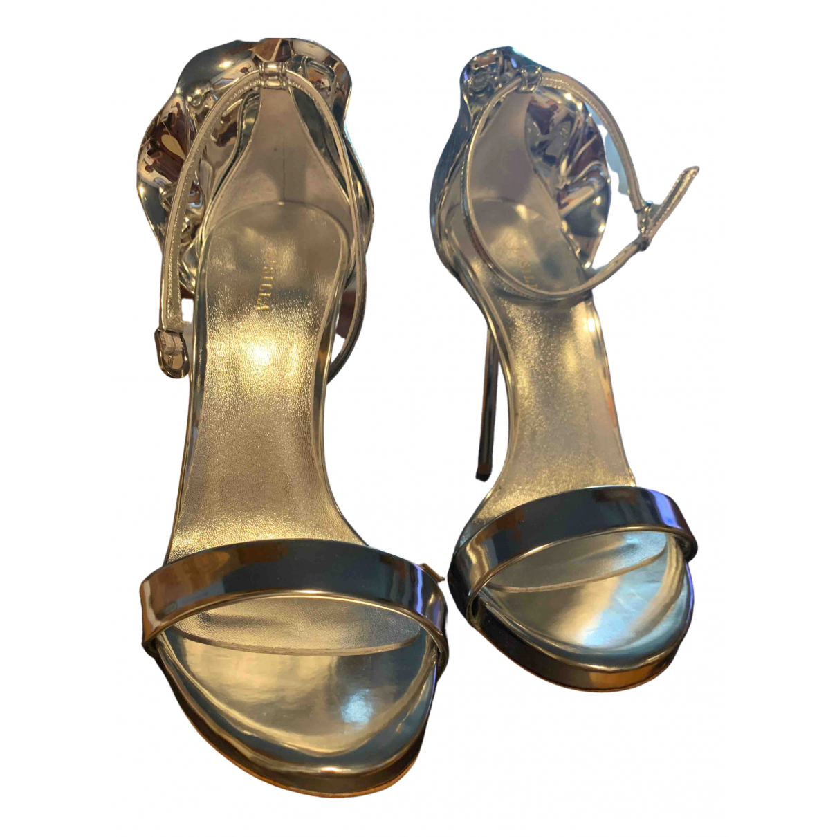 Le Silla \N Sandalen in  Silber Leder