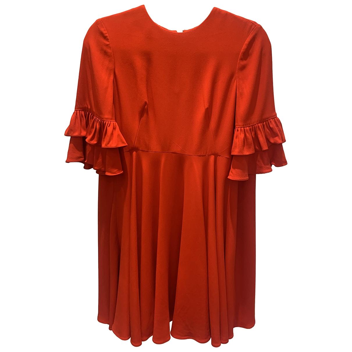 Alexander Mcqueen \N Kleid in  Rot Seide