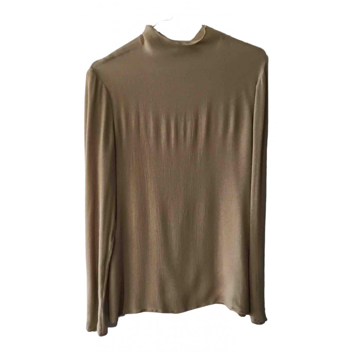 Valentino Garavani - Top   pour femme en soie - beige